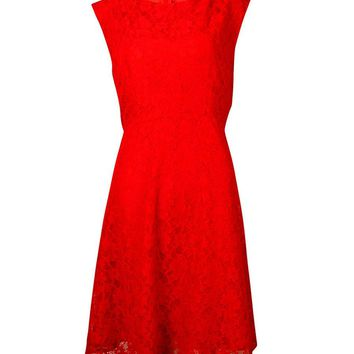 French Connection Women's Fit & Flared Lace Sleeveless Dress