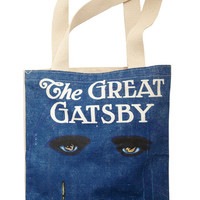 Out of Print 20s, Vintage Inspired, 30s, Scholastic Bookshelf Bandit Tote in Jay