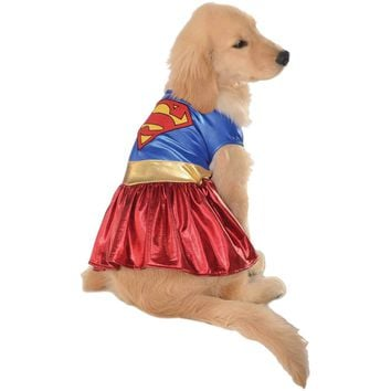 Superman Wonder Woman Puppy Dog Jersey Costume