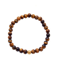 Men's 14K Gold Collection With Brown Tiger Eye