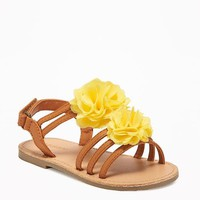 Chiffon-Rosette Sandals for Toddler | Old Navy