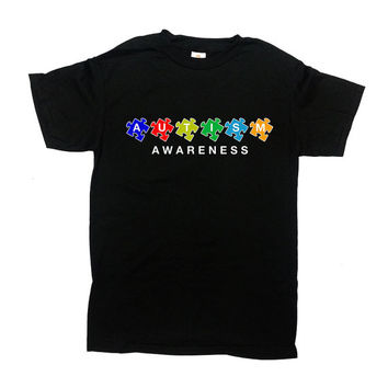Autism Awareness Shirt Autism T Shirt Autism Gift Puzzle Piece Autistic Shirt Autism Support Gifts For Mom Dad Gift Mens Ladies Tee - SA582