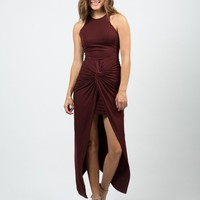 Scrunched Maxi Dress