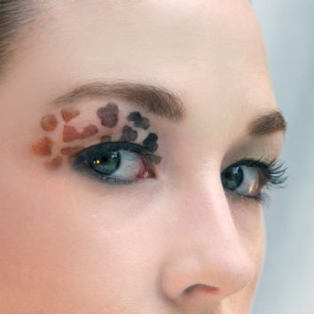Makeup stencil/ Make-up stencil/ Halloween/ animal print/ leopard/ cheetah