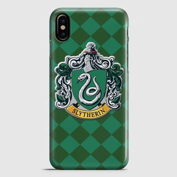 Hoghwart School  Slytherin iPhone X Case