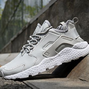 """NIKE"" Air Huarache Casual Running Sport Shoes Sneakers Light Grey"
