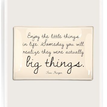 Enjoy The Little Things Decoupage Glass Tray