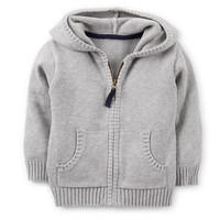 Mini Blues Sweater Knit Hoodie