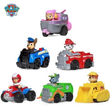 Paw patrol Puppy Patrol Dog  patrulla canina Toys Anime Figurine Car Plastic Toy Action Figure model Children Gifts toys Genuine