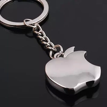 Novelty Souvenir Metal Apple Key Chain Creative