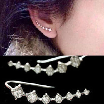 Ear Cuff Wrap Crystal Earrings