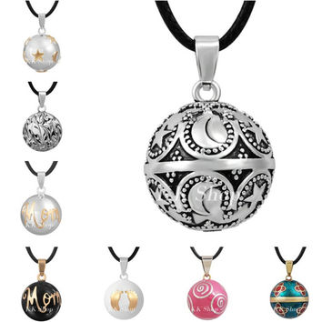 Mexican Bola Eudora Harmony Ball Pendant Angel Caller Necklace Mix Design Musical Sound Ball Jewelry for Pregnant Women Gift