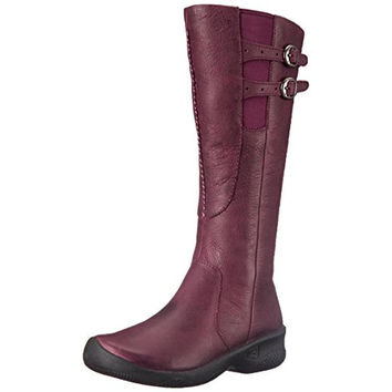 Keen Womens Bern Baby Bern Leather Round Toe Mid-Calf Boots