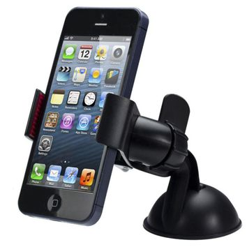 2017 Top sale New Balck White Universal Car Holder Car Windshield Mount Holder phone For iPhone 5S 6S SE 7 MP3 GPS for Samsung