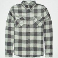Shouthouse Lancaster Mens Flannel Shirt Grey  In Sizes