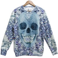 Happy Skull Graphic Sweatshirt - OASAP.com