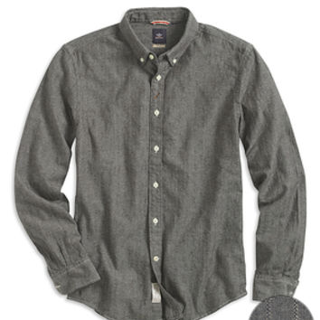 Dockers Chambray Shirt, Hybrid - Dark Grey - Men's