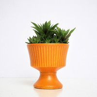 Vintage Orange Footed Planter