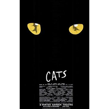 Cats 11x17 Broadway Show Poster (2000)