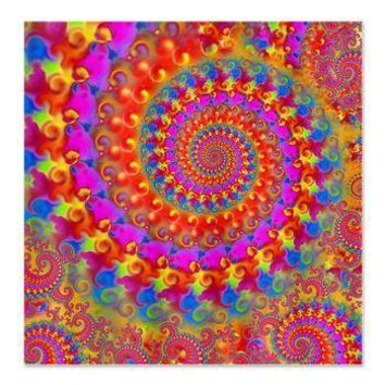 Psychedelic Pink Fractal Art Shower Curtain> Pink Fractal Art Gifts> Hippy Gift Shop Funky Hippie Gifts