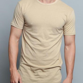 Solid Color Long Length Curved Hem T-Shirt TS270 (New 2018 Colorways) - K8A