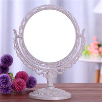 Latest Desktop Make-up Mirror Hot Selling European Style Large Double-sided Dressing Mirror Simple Rotation Princess Mirror