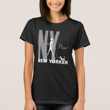 Proud New Yorker funny one-of-a-kind black T-Shirt