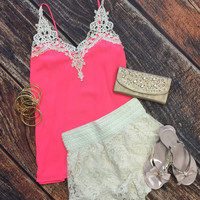 Teach Them New Tricks Top: Neon Pink