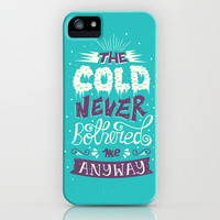 Frozen: The Cold Never Bothered Me Anyway iPhone & iPod Case by Risa Rodil