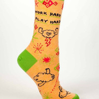 Work Hard, Play Hard Women's Socks