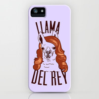 Llama Del Rey iPhone & iPod Case by LookHUMAN