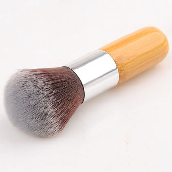 Professional Short Bamboo Handle Cosmetic Brush Makeup Tools