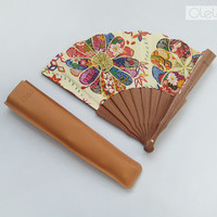 Wedding hand fan - maid of honor gift - oriental japanese ornament by Olele