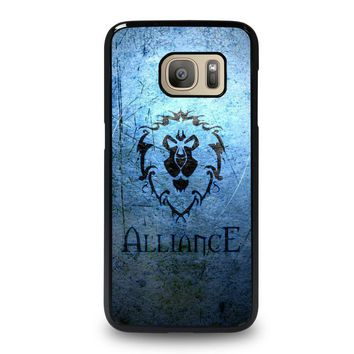world of warcraft alliance wow samsung galaxy s7 case cover  number 1
