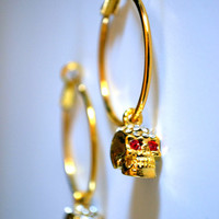 Gold Plated Hoop Earrings with Gold Plated by AccentTheOrdinary