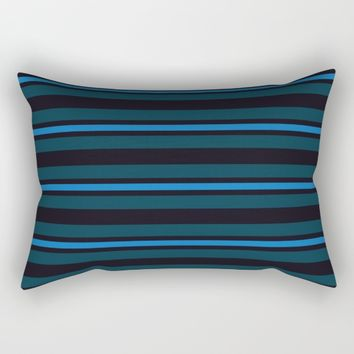 horizontal line with variations in blue Rectangular Pillow by Berwies