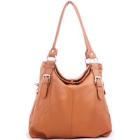 Leather Bag / Camel / Women Work Purse / Handbag / Shopper Bag / Medium Size Bag
