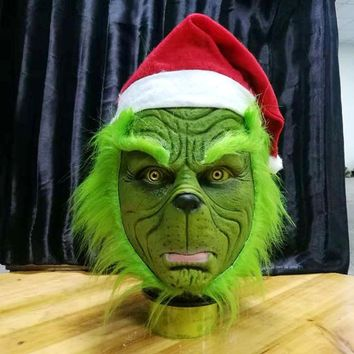 Grinch Stole Christmas Latex Party Mask Full Head Mask Cosplay