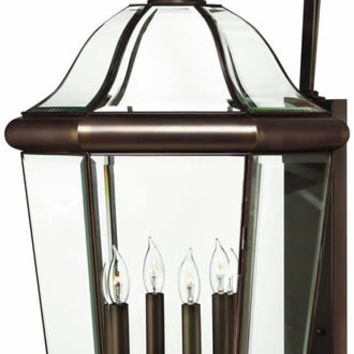 "0-034293>39""h Augusta 4-Light Extra-Large Outdoor Wall Lantern Copper Bronze"