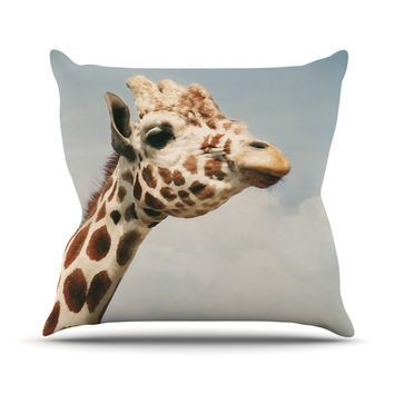 "Angie Turner ""Giraffe"" Animal Outdoor Throw Pillow"