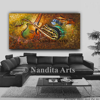 "Guitar painting, Electric wall art, Music Art, Violin painting, Drum, Saxophone Art, Original guitar painting on canvas 60""x30"" (152.4x76.2)"