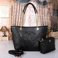 Chenire CHANEL Women Shopping Leather Satchel Tote Shoulder Bag Handbag