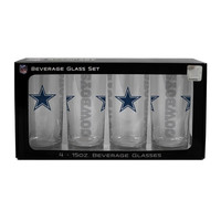 NFL Dallas Cowboys 4 Pack Beverage Glass Set