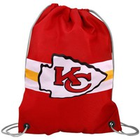 Kansas City Chiefs Team Logo Drawstring Backpack - Red