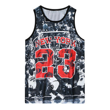 Print Summer Round-neck Hollow Out Short Sleeve Tank Top = 4824037636