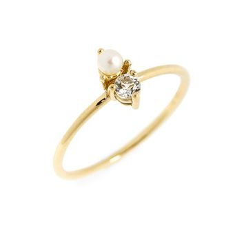 Bony Levy Birthstone & Diamond Stacking Ring (Nordstrom Exclusive)   Nordstrom