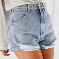 Dusters Shorts - Ripped Blue