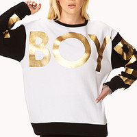 Street-Chic Boy Sweatshirt