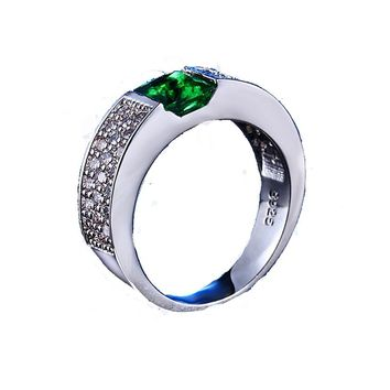 Green White Gold Color  Rings For Women