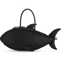 THOM BROWNE Shark pebbled leather tote